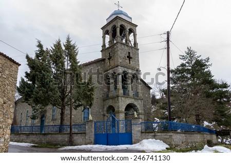 The church in Antartiko village, Florina, Greece - stock photo