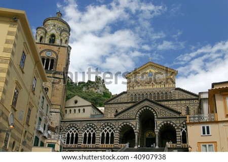 The church in the village of Amalfi