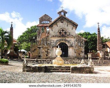 The Church in the village of artists, Dominican Republic