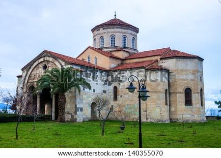 The church of Hagia Sophia in Trabzon, Turkey. - stock photo
