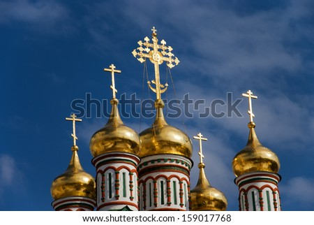 The Church of Saint Nicholas in Moscow - stock photo