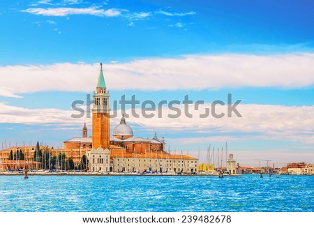 The church of San Giorgio Maggiore on Isola San Giorgio, Venice - stock photo