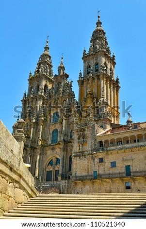 the church of santiago de compostela. galicia spain - stock photo