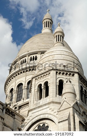 the church Sacre Coeur in Paris, France