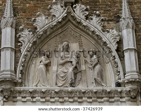 The church Santa Maria Gloriosa dei Frari - Venice Italy - stock photo