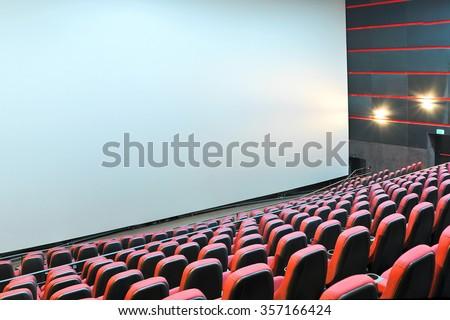 The cinema house. Inside. Mock up - stock photo