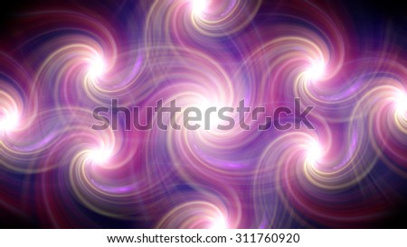 The circle shape of twirl ring lens flares with dark background - stock photo