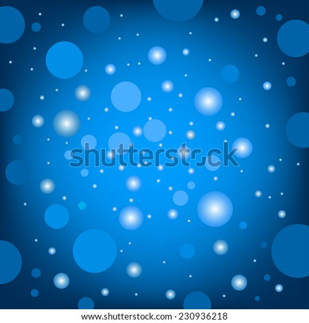 The circular random effects ble dark bokeh background - stock photo