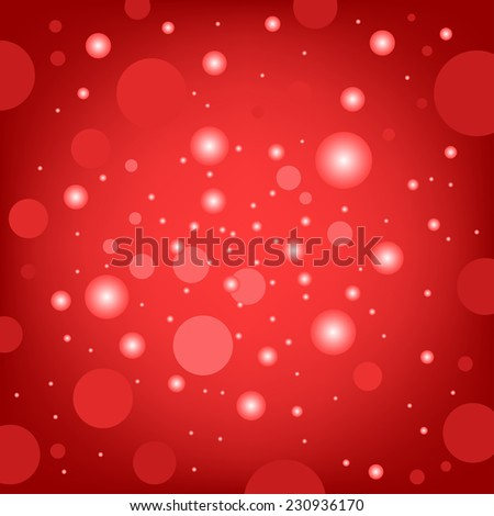 The circular random effects red dark bokeh background - stock photo