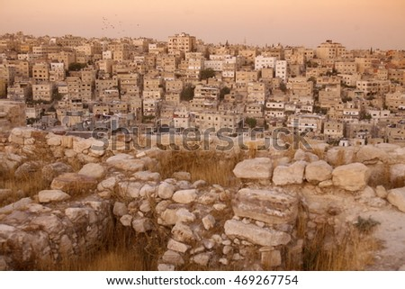 the citadel in the city of jordan in the middle east