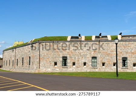 The Citadelle of Quebec City was a military installation and residence from 17th century. Quebec City, Quebec, Canada.