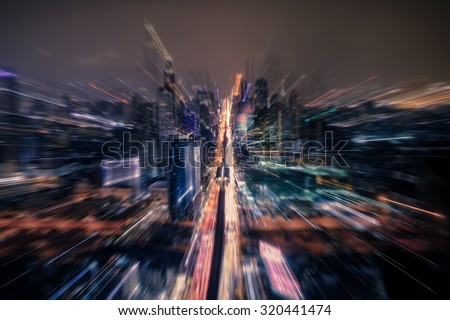 The city at night used as a background. - stock photo