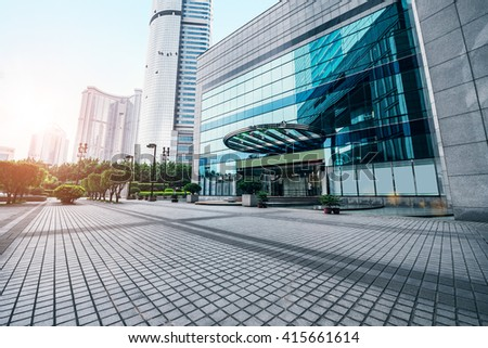 The city ground of office building - stock photo