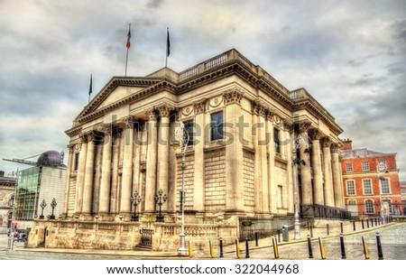 The city hall of Dublin - Ireland - stock photo