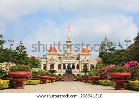 The City Hall of Ho Chi Minh in Ho Chi Minh City, - stock photo