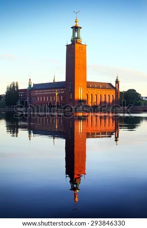 The city hall, Stockholm - stock photo
