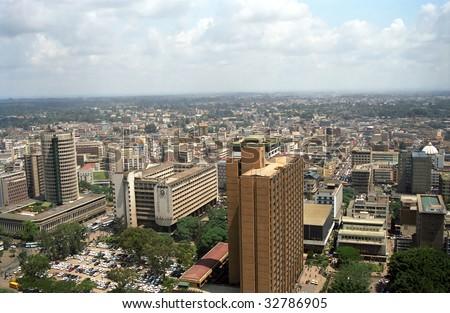The city, Nairobi, Kenya - stock photo