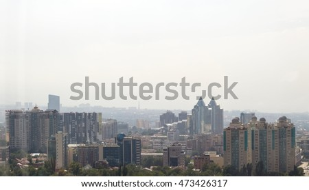 The city of Almaty, the view from the top
