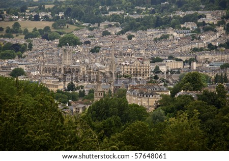 The city of Bath in the southeastern parts of England - stock photo