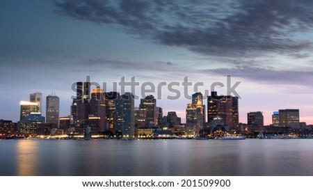 The City of Boston  - stock photo