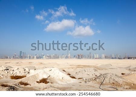 The city of Dubai skyline, United Arab Emirates - stock photo