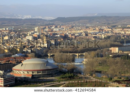 the city of logrono from the air