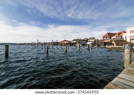 The City of Malchow in Mecklenburg Western Pomerania, Germany - stock photo