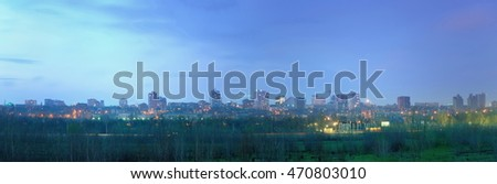 The city of Rostov-on-Don in the evening