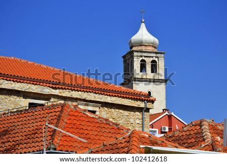 The city of Skradin in Dalmatia, Croatia on Adriatic Coast - stock photo