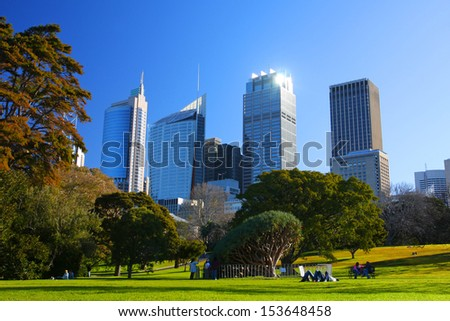 The city of Sydney in Australia - stock photo