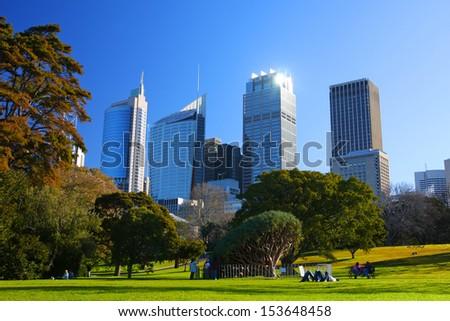 The city of Sydney in Australia - stock photo