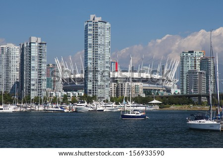 The city of Vancouver in Canada - stock photo