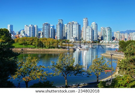 The city of Vancouver in Canada