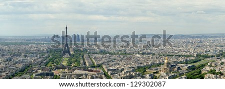 The city skyline at daytime. Paris, France. Taken from the tour Montparnasse