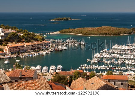 The city Vrsar - Croatia - stock photo