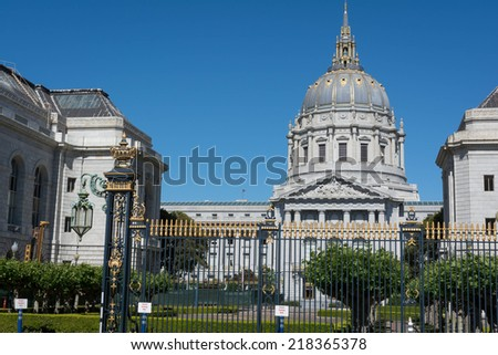 The Civic Center of San Francisco - stock photo