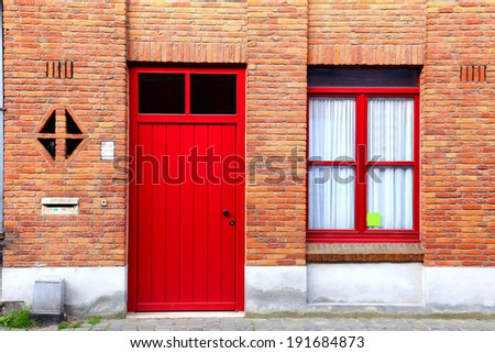 The Classic view of brick and door