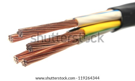 The cleared copper electric power cable