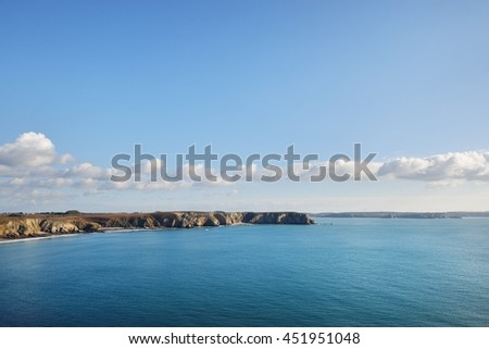 The cliffs at the cape of Pointe de Pen-hir, Bretagne, France