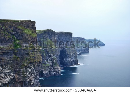 The Cliffs of Moher in County Clare on the west coast of Ireland