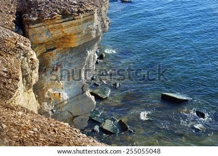 The cliffs of Paldiski, Estonia. The Baltic sea - stock photo
