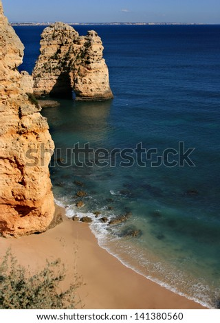 The cliffs of the Algarve, Portugal