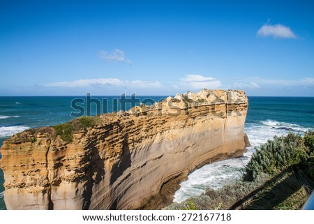 The clift with the blue sky - stock photo
