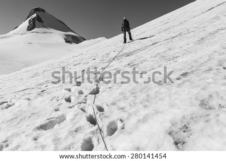 The climb - stock photo