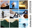The climb collages - stock photo