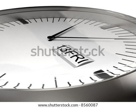 the clock disaster time (3D render)