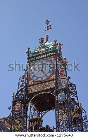 The Clock in Chester England - stock photo
