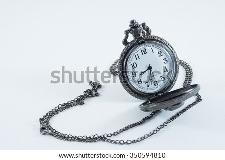 The clock necklace Patterned skull.