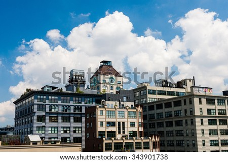 The Clock Tower Condominium at 1 Main St. in DUMBO - StreetEasy, New York City, USA - stock photo