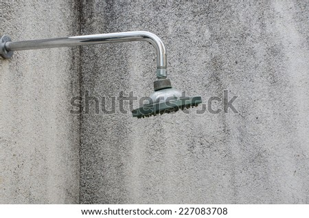 the close up of head shower